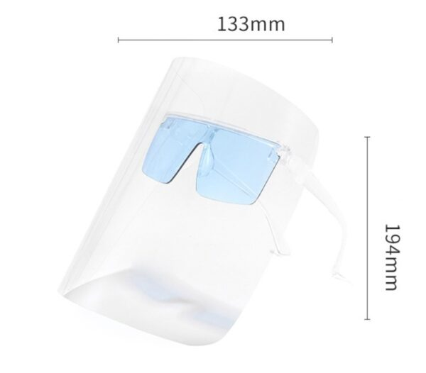 Face Shield with Sunglasses Anti Ultraviolet/Integrated Large Lens Anti Peeping
