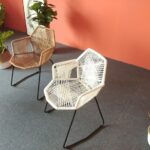 Outdoor Stool Hand-Woven Wicker Chair